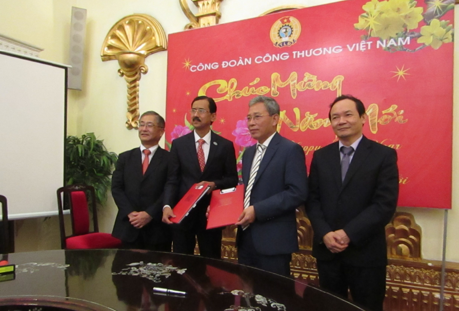 MOU signing ceremony between AIGA VN and VINACHEMIA in Feb 13, 2019