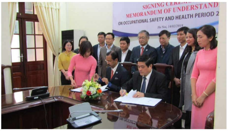 MOU signing ceremony bewteen AIGA and DWS – Feb 14, 2019