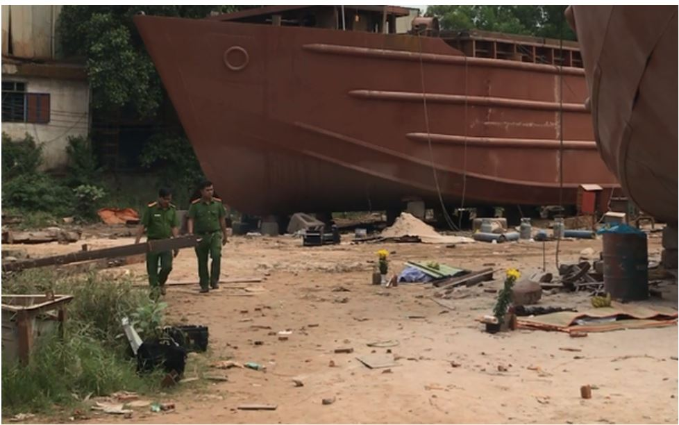 Oxygen cylinder was exploded in Tien Giang