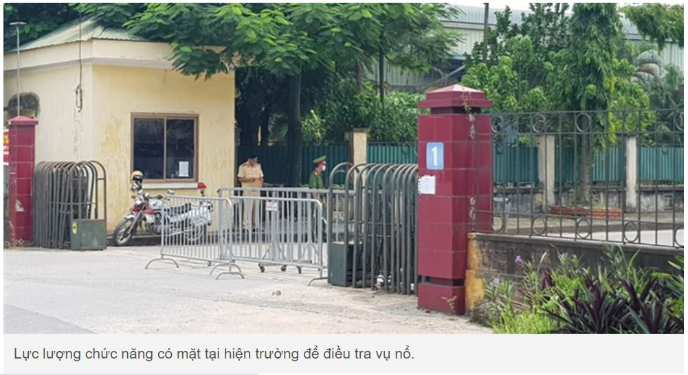 Oxygen cylinder was exploded in Gia Lam