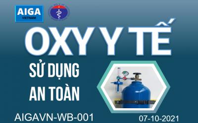 """Hội thảo trực tuyến """"Sử dụng oxy an toàn trong các cơ sở y tế"""" – 07-10-2021"""