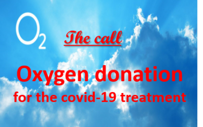 The call for donation of resources regarding medical oxygen